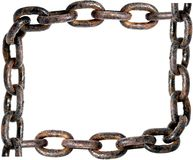 Old rusty chain frame Royalty Free Stock Photography