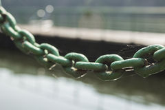 Old rusty chain link macro, background Royalty Free Stock Image