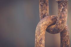 Old and rusty chain Stock Images