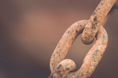 Old and rusty chain Royalty Free Stock Photos