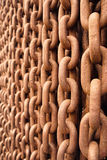 Old rusty chain Royalty Free Stock Photos