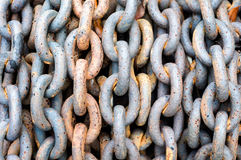 Old rusty chain Stock Images
