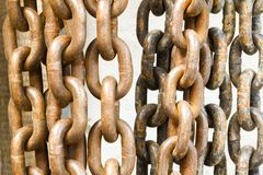 Old rusty chain texture Royalty Free Stock Image