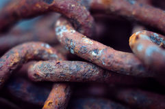 Old rusty chains Stock Photography