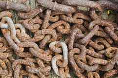 Old Rusty Chains Stock Photo