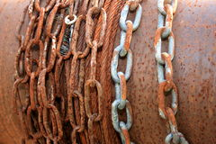 Old rusty chains Stock Photos