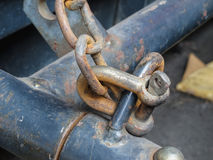 Old rusty chains Royalty Free Stock Image