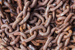 Old rusty chains Royalty Free Stock Photos