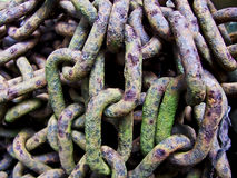 Old rusty chains. In a pile Royalty Free Stock Photography