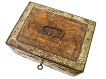 Old rusty chest Stock Image