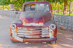 Old and rusty Chevrolet in Namibia Royalty Free Stock Photos