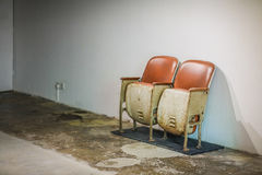 Old rusty cinema chair Royalty Free Stock Photography