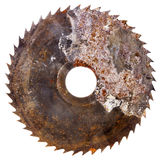 Old rusty circular saw blade Royalty Free Stock Photography