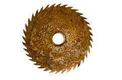 Old rusty circular saw blade isolated on white Stock Image