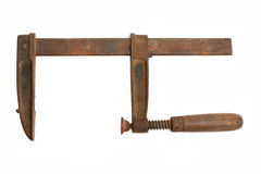 Old rusty clamp Stock Images