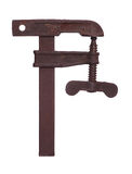 Old rusty clamp Royalty Free Stock Photos