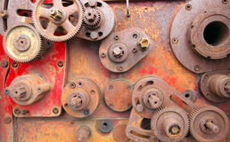 Old Rusty Cogs Stock Photo