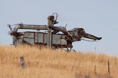Old Rusty Combine Royalty Free Stock Images