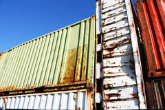 Old rusty containers Royalty Free Stock Images