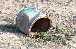 Old rusty containers in nature Royalty Free Stock Photo