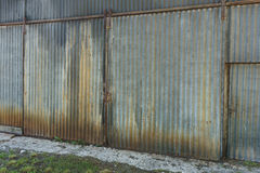 Old rusty corrugated iron building Stock Photography