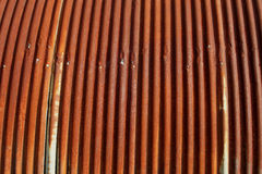 Old Rusty corrugated iron roofing Stock Images