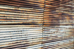 Old Rusty Corrugated Steel Wall Royalty Free Stock Photo