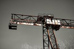 Old rusty crane Royalty Free Stock Image
