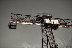 Old rusty crane royalty free stock image