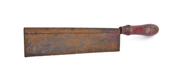 Old and rusty crosscut handsaw Royalty Free Stock Images