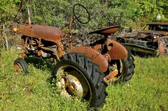 Old rusty  cub tractor Royalty Free Stock Images