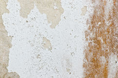 Old rusty damage white wall Royalty Free Stock Photo