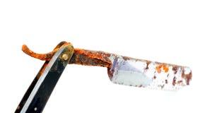 Old rusty damaged razor Stock Photo
