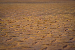 Old rusty diamond plate steel floor background stock image