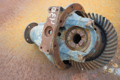 Old rusty differential lying Royalty Free Stock Image