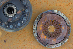 old rusty differential lying and used clutch Royalty Free Stock Image