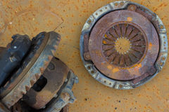 old rusty differential lying and used clutch Royalty Free Stock Photography