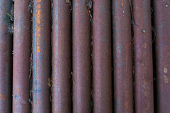Old, rusty, dirty pipes Stock Images
