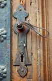 Old rusty door handle Stock Photography