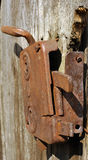 Old rusty door lock Stock Images