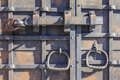 Old rusty door lock.closeup Stock Images
