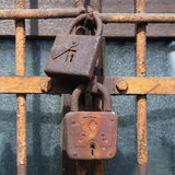 two old rusty lock Stock Images