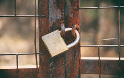 Old rusty door padlock Royalty Free Stock Image