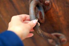 Old rusty doorknob Royalty Free Stock Photos