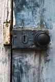 Old rusty doorknob and lock Stock Image