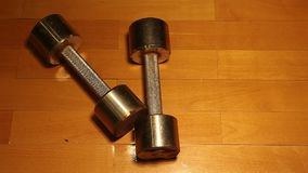 Old rusty dumbbell parquet background hd footage