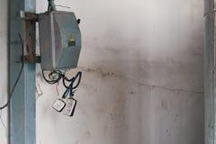Old rusty electric transformer box Stock Photos