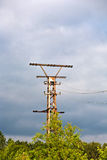 Old rusty electrical tower Royalty Free Stock Images
