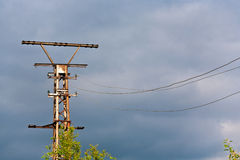 Old rusty electrical tower Royalty Free Stock Photo