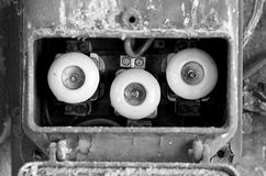 Old rusty eletrical box Stock Image
